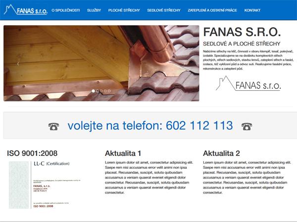 Fanas - sedlové a ploché střechy