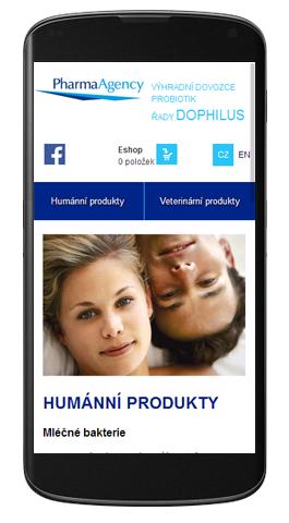 Pharma Agency - mobilní zobrazení